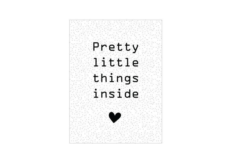 Cadeaukaartje - Pretty little things inside