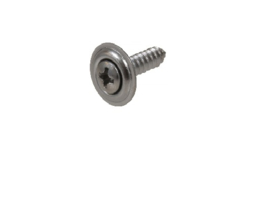 Chrome parker 4.2 x 19 mm met ring. Per 10 stuks.