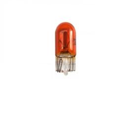 Steeklampje oranje, 12v / 5w, T10 voet, W5W