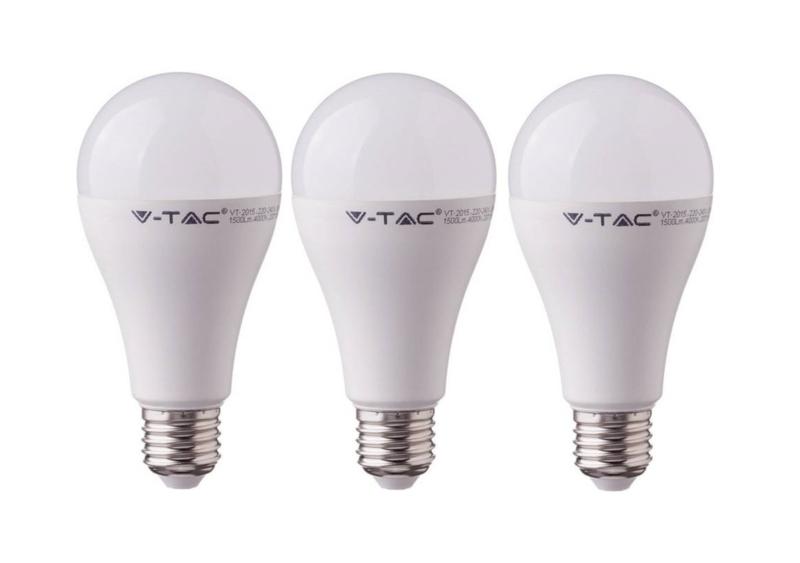 3 stuks Led lamp E27 fitting, 9 watt, kleur: 2700K (warm wit)