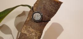 Armband Memory Locket Black Strass Slide- Parlemoer