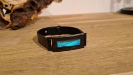 Armband Memory Locket Black Unisex- Morpho blue