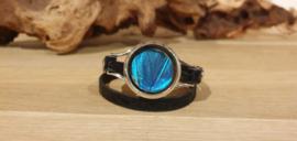 Armband Memory Locket Silver- Morpho Blue