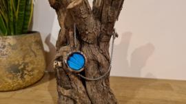 Armband Memory Locket slide Silver- Papilio Blue