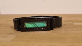 Armband Memory Locket Black Unisex- Green