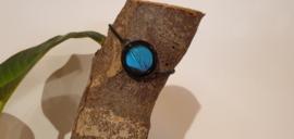 Armband Memory Locket Black Slide- Morpho Blue