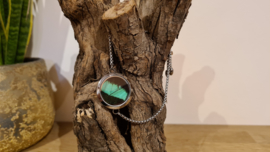 Armband Memory Locket slide Silver- Papilio Green