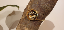 Armband Memory Locket Twist Slide Gold- Spots