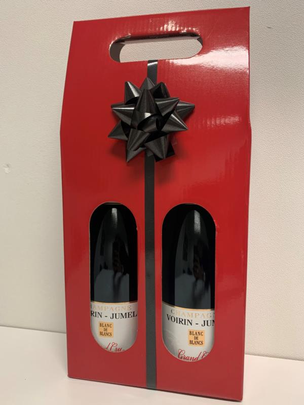 2 flessen  Grand Cru Blanc de Blancs in geschenkverpakking