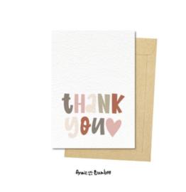 Ansichtkaart - Thank you