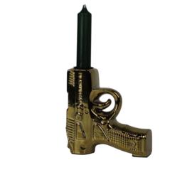 HV Gouden pistool kandelaar