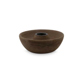 Candle Holder Round Brown