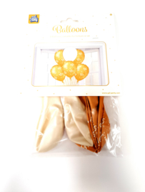 Decoration Balloons wit/goud