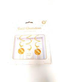 swirl decorations wit/goud