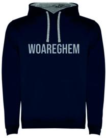 Hoodie Man - WOAREGHEM - (marine of grijs)