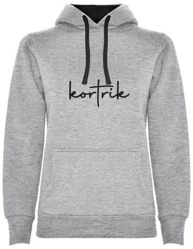 Hoodie Woman - kortrik - (marine of grijs)