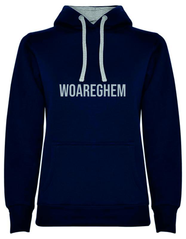 Hoodie Woman - WOAREGHEM - (marine of grijs)