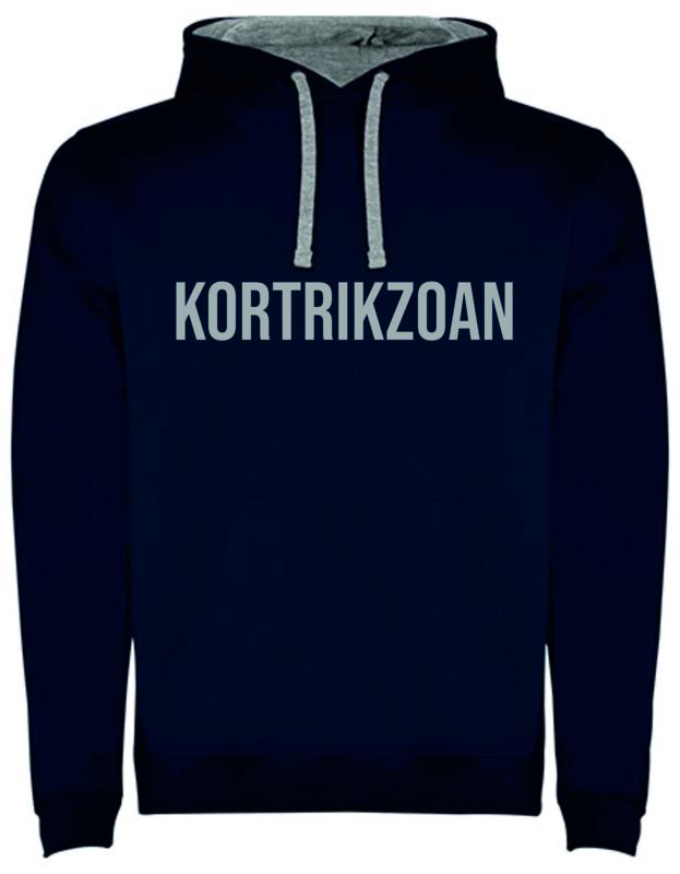 Hoodie Man - Kortrikzoan - (marine of grijs)