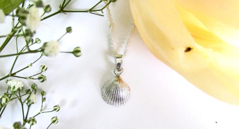 zilveren schelp klein licht