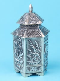 Zilveren theebusje