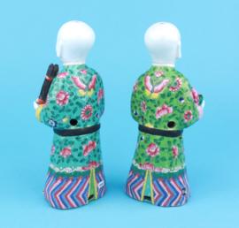 Qing lachende tweeling