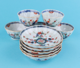 Qianlong cups and saucers