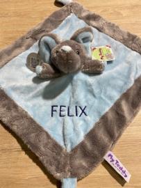 Knuffeldoekje olifant met naam
