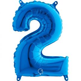 Cijfer 2 blauw