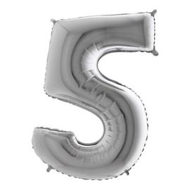 cijfer 5 zilver