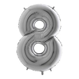 cijfer 8 zilver