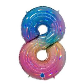 Cijfer 8 regenboog