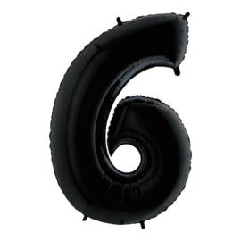 Cijfer 6 zwart