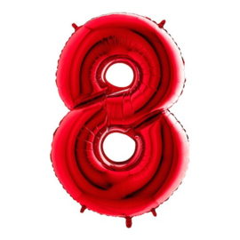 Cijfer 8 rood
