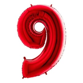 Cijfer 9 rood