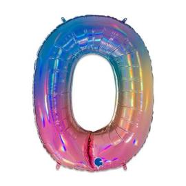 Cijfer 0 regenboog