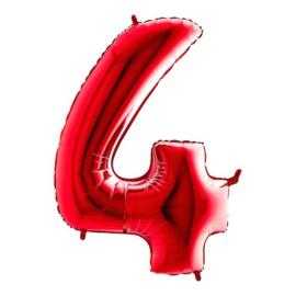 Cijfer 4 rood