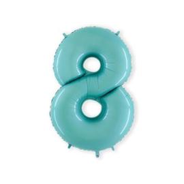 Cijfer 8 licht blauw