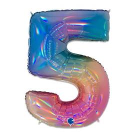 Cijfer 5 regenboog