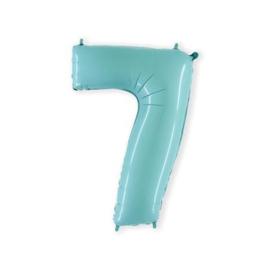 Cijfer 7 licht blauw