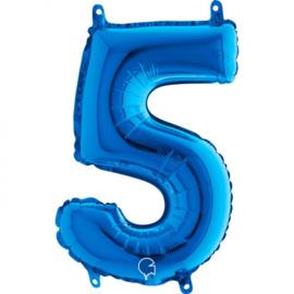 Cijfer 5 blauw