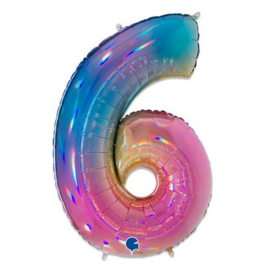 Cijfer 6 regenboog