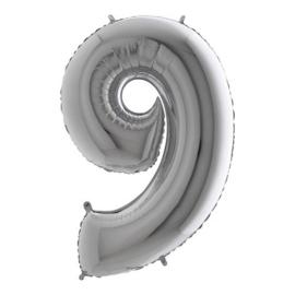 cijfer 9 zilver