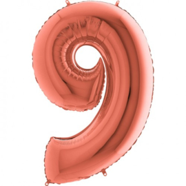cijfer 9 rosegold