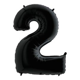 Cijfer 2 zwart