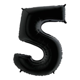 Cijfer 5 zwart