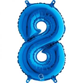 cijfer 8 blauw