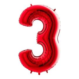 Cijfer 3 rood