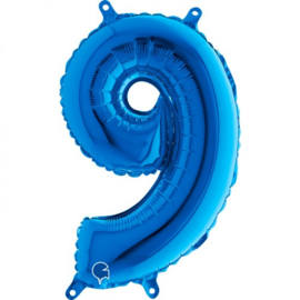 Cijfer 9 blauw