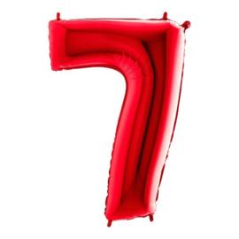 Cijfer 7 rood