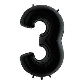 Cijfer 3 zwart